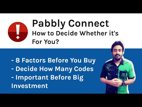 Pabbly Connect - How to Decide? How Many Codes? Is it For You?