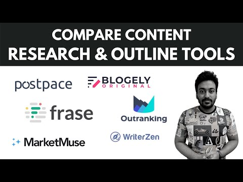 Compare Postpace vs Frase vs Otranking vs Marketmuse vs Blogely vs Writerzen For Content Research