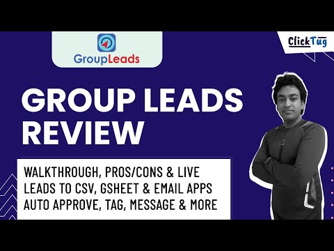 Group Leads Review - Extension to Download Leads & Emails From Facebook Group & Automation