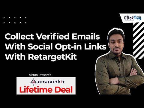 Collect Verified Emails With Social Opt-in Links With RetargetKit - Boost Alternative