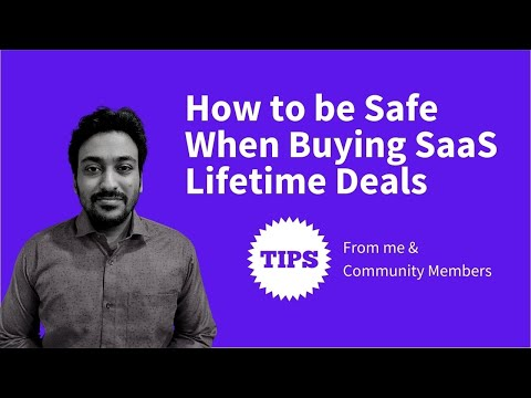 How to be Safe When Buying SaaS Lifetime Deals (Tips & Tricks) | Mini-Course
