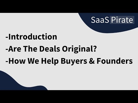 SaaSPirate Introduction - Affordable SaaS Lifetime Deals & Discounts in 2021