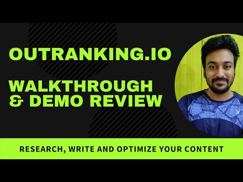 Outranking.io Review - GPT3, AI Writer (GPT3) & SEO Content Tool