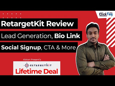 RetargetKit Review - Lead Generation, Bio Link, Curated Page, Social Signup & More