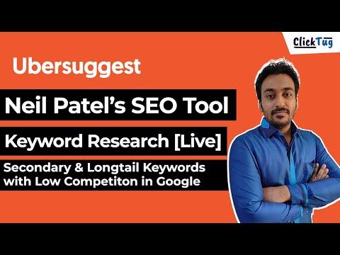 Neil Patel Ubersuggest Keyword Research Tool - Live Keyword Research Demo & Steps in 2021