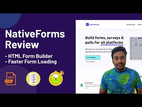 NativeForms Review & SaaS Mantra Lifetime Deal - HTML Form Builder