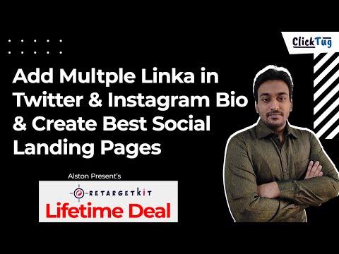 Add Multple Link in Twitter & Instagram Bio With RetargetKit - Social Bio Landing Pages