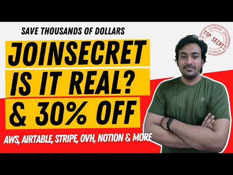 JoinSecret Review - Save Thousands of Dollars AWS, OVHCloud, AirTable, Stripe, Notion & Etc