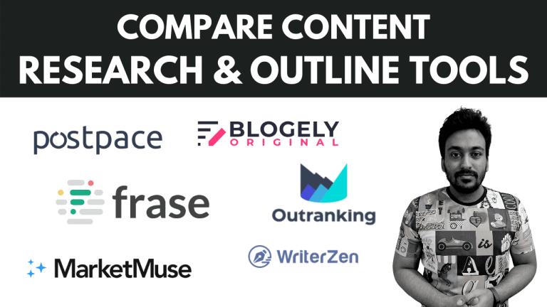 compare postpace vs frase vs marketmuse vs blogely vs outranking vs writerzen